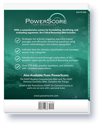 The PowerScore GMAT Critical Reasoning Bible Thumbnail