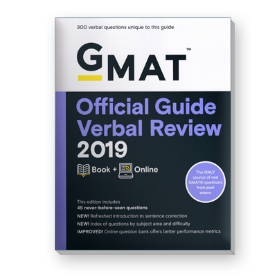 GMAT® Official Guide Verbal Review 2019
