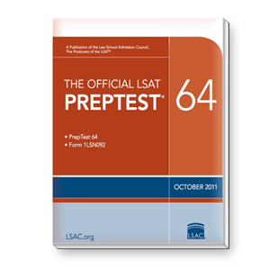 Prep Test 64 (October 2011 LSAT)